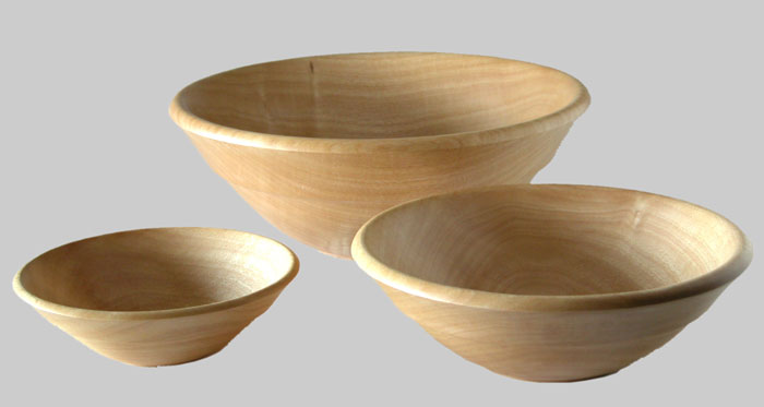 Nested Ash Salad Bowls